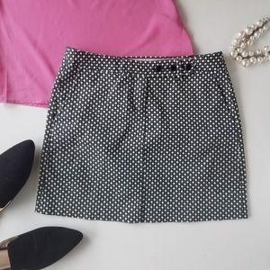 J. CREW Stretch Diamond Mini Black White Skirt